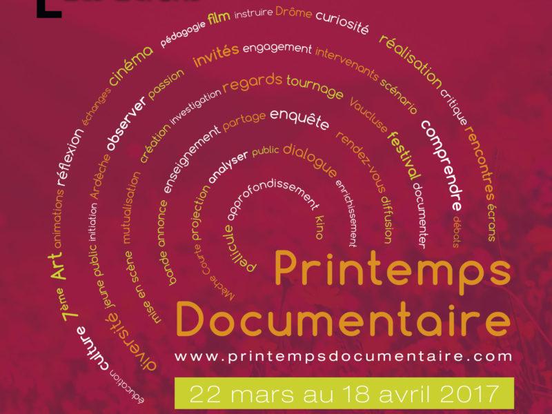 Les conseils programmation pour le Printemps Documentaire