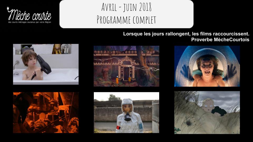 Programme avril – juin 2018